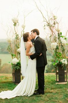 Rustic Wedding Arch | photography by http://www.lindsaymaddenphotography.com/   would be easy to DIY.