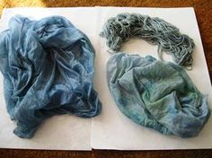 Dyeing with frozen viola and other natural dyes.   Could use the native violets taking over my backyard!
