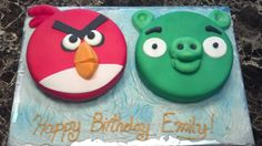 """James wants a """"red angry bird"""" cake on his birthday."""