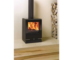 Small Riva Vision Gas Stove Balanced Flue Free Standing Stoves