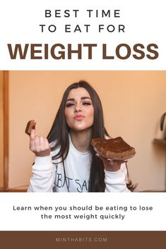 Wondering when is the best time to eat to lose weight? To lose weight, you should eat. Lose Weight Naturally, Losing Weight Tips, Want To Lose Weight, Weight Loss Goals, Healthy Weight Loss, How To Lose Weight Fast, Weight Gain, Weight Control, Fitness Tips