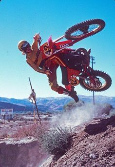 "Danny ""Magoo"" Chandler. The Father of Free Style Motocross. He could, and would…"