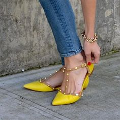 Halogen Olson Pointy Toe @ Nordstrom  Crushing on these hard!! Just bought in coral but yellows looking just as yummy!!!