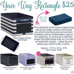 Your Way Rectangle by Thirty-One. Fall/Winter 2016. Click to order. Join my VIP Facebook Page at https://www.facebook.com/groups/1603655576518592/