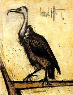 Bernard Buffet - Le Museum : Condor - 1963 oil on canvas - 130 x 97 cm