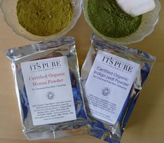 Soil Association Certified Henna and Indigo - only the very very purest!