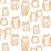 Night Owl (white) - leanne - Spoonflower