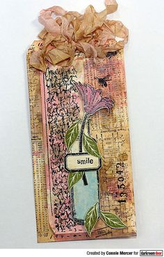 Tag by Connie Mercer using Darkroom Door Abstract 08 Stamp, Number Medley Stamp Set, Buzzing Bees Stamp Set, Lots of Labels Stamp Set and Carved Leaves Stamp Set Buzz Bee, Handmade Tags, Gift Tags, Art Projects, Stamps, Carving, Doors, Ink, Abstract