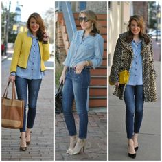 3 ways to wear denim on denim #FashionTips