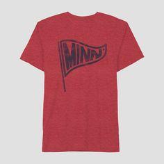 58e7e6f7bfa Men s Short Sleeve Minnesota Pennant Graphic T-Shirt - Awake Red Xxl