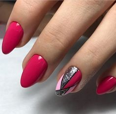 The advantage of the gel is that it allows you to enjoy your French manicure for a long time. There are four different ways to make a French manicure on gel nails. Red Nails, Hair And Nails, Pink Nail, Spring Nails, Summer Nails, Cute Nails, Pretty Nails, Nagellack Design, Geometric Nail Art