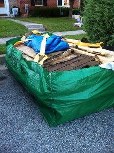 A Full Shed Torn Down And In The Bagster Bag Via One Project Closer Backyard
