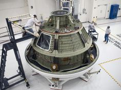 The Orion Ground Test Vehicle arrived at NASA's Kennedy Space Center Operations & Checkout (O) Facility on April 21. The vehicle traveled more than 1,800 miles from Lockheed Martin's Waterton Facility near Denver, Colo., where it successfully completed a series of rigorous acoustic, modal and vibration tests that simulated launch and spaceflight environments.