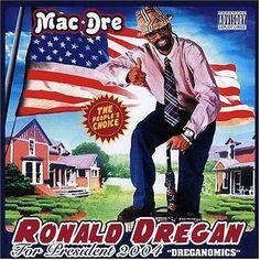 Mac Dre - Ronald Dregan - Dreganomics (Red, White & Blue Vinyl) (X) Rap Albums, Hip Hop Albums, Mac Dre, Rap Album Covers, Pochette Album, Music Heals, Hip Hop Rap, Rap Music, Lp Vinyl