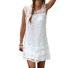2016 мода женщины-бич платье сексуальная рукавов цветочные кружева вышитые крючком летнее платье хиппи Boho платья Vestidos