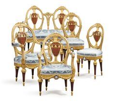 date unspecified A jasperware-mounted giltwood, mahogany and tulipwood salon suite, probably Russian, late century Estimate — EUR Sofa Chair, Armchair, Blue Dining Tables, Art Nouveau, Georgian Furniture, Classical Elements, Decorative Mouldings, Side Chairs, 19th Century