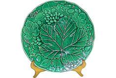 Antique Majolica Grape Leaf Plate on OneKingsLane.com