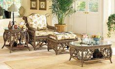 Плетеная мебель в спокойном классическом стиле
