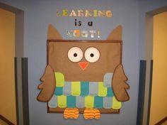 back to school owl hallway board