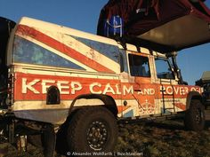Keep Calm and Land Rover on. Land Rover Defender 130, Landrover Defender, Truck Camping, Camping Tips, Land Rover Freelander, Best 4x4, Cars Land, Expedition Vehicle, Union Jack