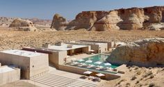 Amangiri Resort, Canyon Point, Utah   I-10 studio (Marwan Al-Sayed, Wendell Burnette, and Rick Joy)