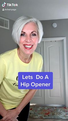 Beginners Cardio, Gym Workout For Beginners, Fitness Workout For Women, Yoga Fitness, Hip Stretching Exercises, Chair Exercises, Yoga Moves, Tomitillo Recipes, Yoga For Seniors