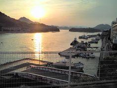 Japan, Hiroshima, Onomichi, Innoshima, Habu-habor, from Hotel-Nautique-Shiroyama