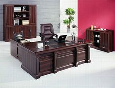 Office furniture vendors using modern cubicle desk with office desk 40 inches wide with Executive wood office desk l shaped with office furniture companies - Awesome home interior design Wood Office Desk, Office Table Design, Home Office Design, Office Decor, Modular Furniture, Home Office Furniture, Furniture Design, Contemporary Office, Contemporary Furniture