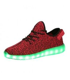 Check out the multiple static lights on Women's red LED shoes available on sale at $49. Shop now.