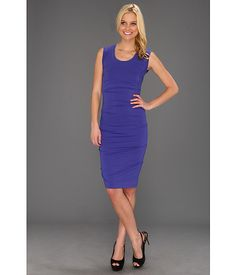 Nicole Miller Tidal Pleat Jersey Dress
