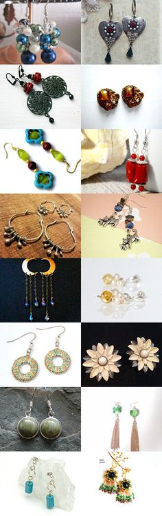 Earrings Galore! by Rita on Etsy--Pinned+with+TreasuryPin.com