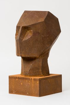 Rory Menage, Ozymandias Maquette I, 2016 Sculpture Head, Plaster Sculpture, Wood Sculpture, Ceramic Sculptures, Ceramic Sculpture Figurative, Geometric Sculpture, Trash Art, Wooden Art, Statues