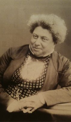 Alexandre Dumas a great French author to Son of General Thomas Alexandre Dumas (the first General of color in the French Military) Writers And Poets, Book Writer, Book Authors, European History, Black History, Jolie Photo, African American History, Portraits, Famous Faces
