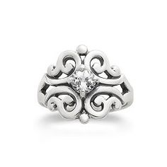 Spanish Lace Ring with Lab-Created White Sapphire at James Avery // promise ring?