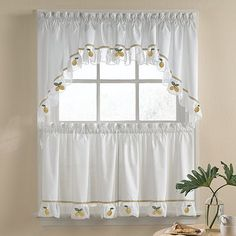 Lemon Kitchen Curtains