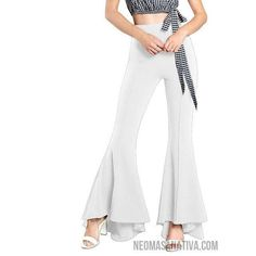 3741164f2455 Flared Dance Pant Collection-Women s Pants-White-S-Neoma Sanativa Design