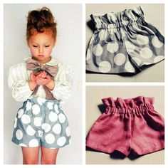 Paper bag toddler shorts.