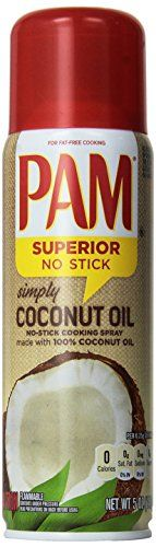 PAM Simply Coconut NoStick Cooking Spray 5 oz Pack of 3 *** Discover this special item, click the image: at Cooking Ingredients. Coconut Oil Cream, Coconut Oil Spray, Unrefined Coconut Oil, Cooking With Coconut Oil, Coconut Oil For Face, Coconut Oil Uses, Organic Coconut Oil, Cooking Oil