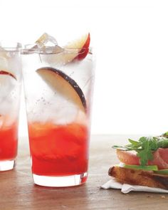 Plum Coolers Recipe  More interested in the plum syrup this makes, could be delicious for nonalcoholic stuff too