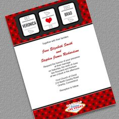 Slot Machine - Vegas Casino Wedding Invitation