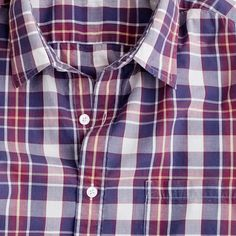 Secret Wash lightweight shirt in lagoon plaid from J.Crew. I love, love, love the colors on all of J.Crew's plaid shirts.