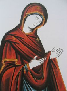 icon painting garnment   Icongraphy folders Maria