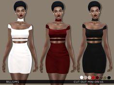Lana CC Finds - simsway:   Cut Out Mini Dress (TS4)   Female,...