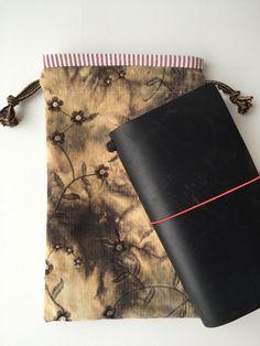 Midori Traveler's Notebook Bag Drawstring by LowlandOriginals on Etsy