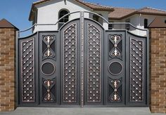 50 The Best Gate Design That You Have to Try in Your Home - decortip Home Gate Design, House Main Gates Design, Steel Gate Design, Front Gate Design, Entrance Design, Door Design, Front Gates, Entry Gates, Gate Designs Modern