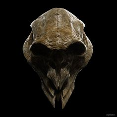 ArtStation - Alien Skull: Spartan, Dominic Qwek
