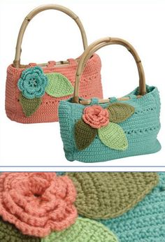 Bolsas Rose e Beach - translate pattern from Portuguese