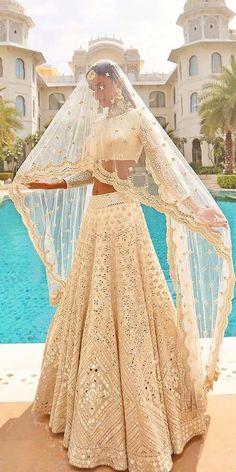 Indian Wedding Gowns, Desi Wedding Dresses, Indian Gowns Dresses, Indian Bridal Outfits, Pakistani Bridal Wear, Indian Bridal Fashion, Indian Fashion Dresses, Dress Indian Style, Bridal Dresses