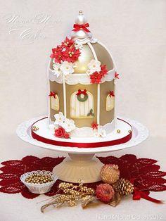 Christmas Birdcage Cake