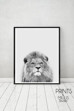 Lion Print Printable Instant Digital Download by PrintsMiuusStudio